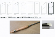 Round Section Skew Chisels
